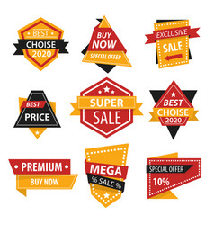 best price and special offer isolated icons sale vector image