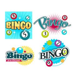 Bingo game gambling equipment balls with numbers vector