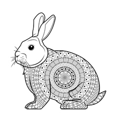 Black and white rabbit design vector