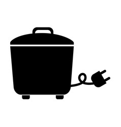 black rice cooker graphic design vector image