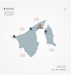 Brunei infographic map vector