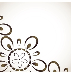 Card design with monochrome flower pattern vector image