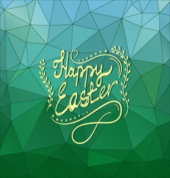 Card with Happy Easter lettering-5 vector image