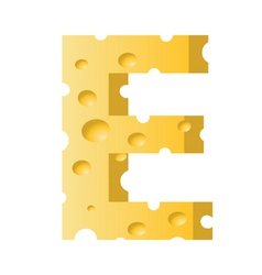 cheese letter E vector image
