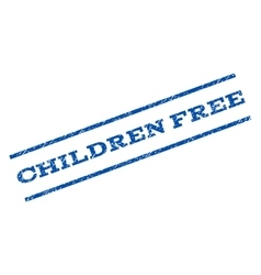 Children Free Watermark Stamp vector