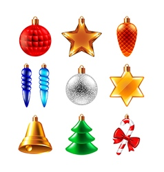 Christmas balls different forms set vector