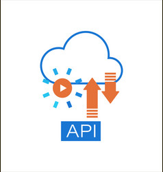 Cloud api software integration icon vector