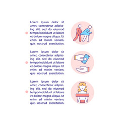 Commercial sexual exploitation concept line icons vector