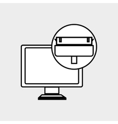 Computer technology design vector