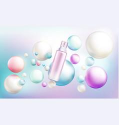 Cosmetics spray bottle mockup beauty cosmetic tube vector