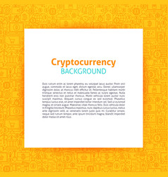 Cryptocurrency paper template vector