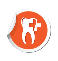 Dental clinic orange tag vector