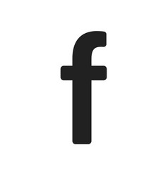F in abstract style on white background flat icon vector