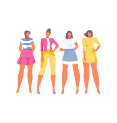 fashionable summer girls vector image
