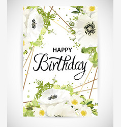 floral template card vector image