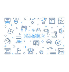 gamer concept horizontal in vector image