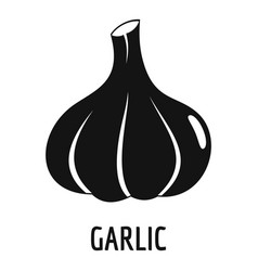 garlic icon simple style vector image