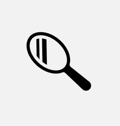 hand mirror icon beauty line vector image