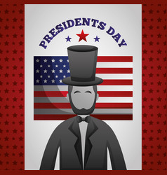 Happy presidents day celebration poster vector