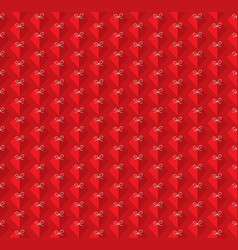 heart shape pattern background vector image