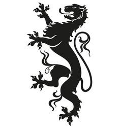 heraldic leopard lion vector image