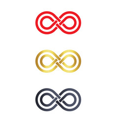 Infinity symbol logo icons vector