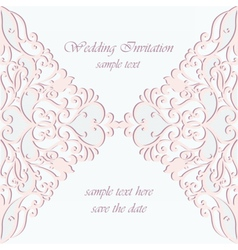 invitation card ornamental lace vector image