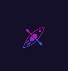 Kayak top view trendy icon vector
