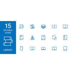 library icons vector image