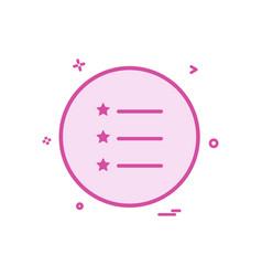 list icon design vector image