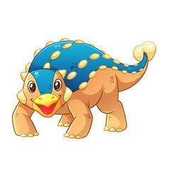 little ankylosaurus cartoon vector image
