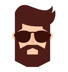man person hipster style isolated icon vector image