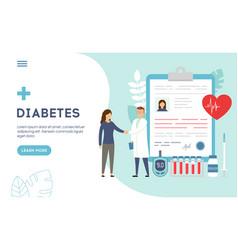 Medical diagnosis concept - diabetes diabetes vector
