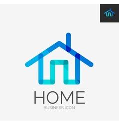 Minimal line design logo home icon vector image