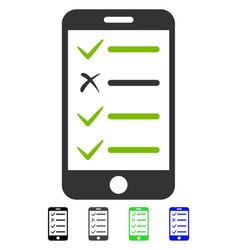 Mobile checklist flat icon vector