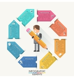 Modern infographics options banner with realistic vector image