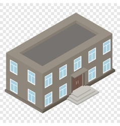 New architecture isometric house vector