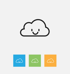 Of air symbol on smile cloud vector