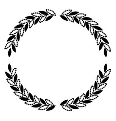Olive branches forming circle in black silhouette vector