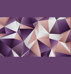 Pastel two colors low poly banner design vector