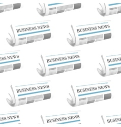 Pattern of folded Business News newspapers vector