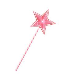 pink fairy magic wand 3d princess stick with star vector image