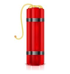 Red dynamite sticks vertical vector image vector image