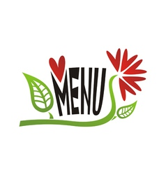Romantic valentines day menu vector image