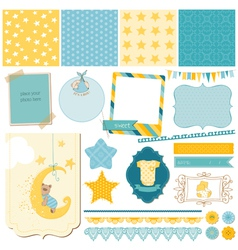 Scrapbook babear set vector