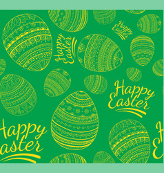 Seamless colorful happy easter pattern vector