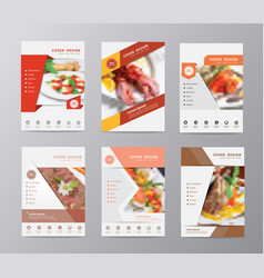set of annual report brochure flyer design vector image