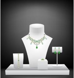 Set of jewelry on dummies vector image