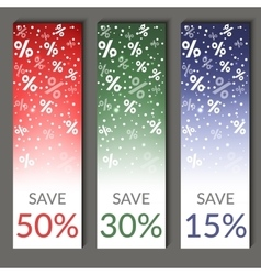 Set of three sale banners eps10 vector