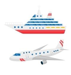 Ship cargo and airline avia transportation vector